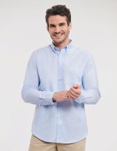 Men`s Long Sleeve Tailored Button-Down Oxford Shirt