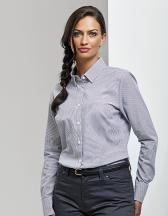 Ladies Cotton Rich Oxford Stripes Shirt