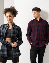 Men`s Brushed Check Casual Shirt